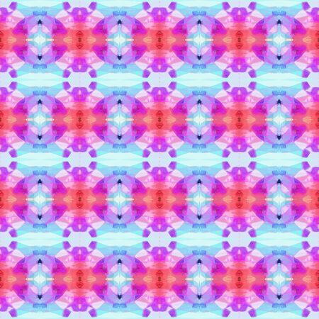 abstract seamless pattern with lavender blue, medium orchid and orchid colors. repeating background illustration can be used for wallpaper, creative backgrounds or textile fashion design. Stock Photo