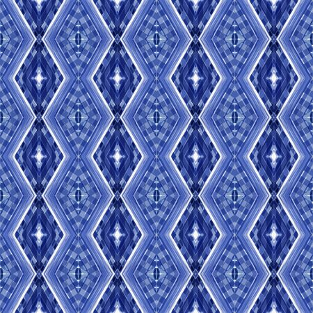 seamless repeating pattern with steel blue, dark slate blue and lavender colors. can be used for wallpaper, fabric, pattern fills and surface textures. Stock Photo