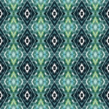 seamless repeating pattern with teal blue, light gray and very dark blue colors. can be used for card designs, background graphic element, wallpaper and texture. Stock Photo