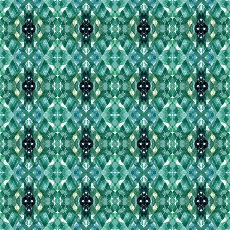 repeatable pattern with teal blue, sea green and lavender colors. seamless graphic can be used for packaging paper, fabric, wallpaper and textures.