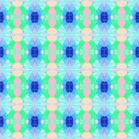 seamless retro pattern with sky blue, aqua marine and light sea green colors. repeating background illustration can be used for wallpaper, creative backgrounds or textile fashion design. Stock Photo