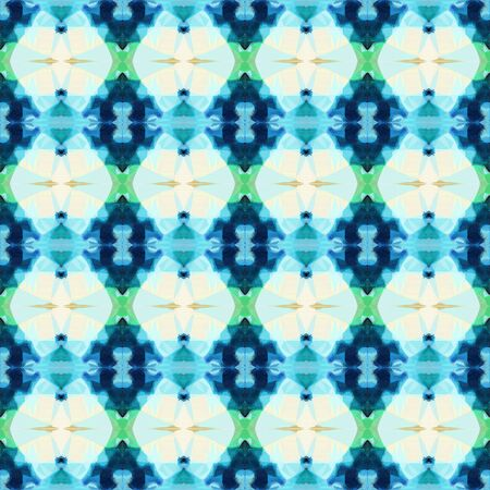 bright seamless pattern with teal, teal green and lavender colors. repeating background illustration can be used for wallpaper, wrapping paper or textile fashion design.