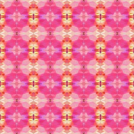 bright seamless pattern with pale violet red, wheat and pastel magenta colors. repeating background illustration can be used for wallpaper, wrapping paper or textile fashion design. Stock Photo