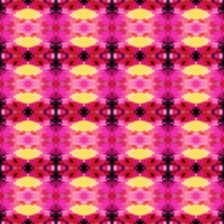 abstract seamless pattern with moderate pink, very dark pink and khaki colors. repeating background illustration can be used for fashion textile design, web page background or surface textures. Stock Photo