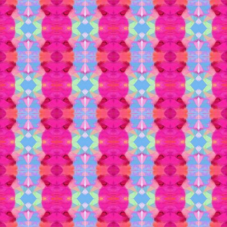 bright seamless pattern with deep pink, pastel blue and pastel violet colors. repeating background illustration can be used for wallpaper, wrapping paper or textile fashion design.