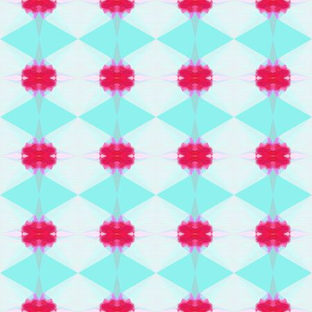 colorful seamless pattern with moderate pink, lavender and aqua marine colors. repeating background illustration can be used for wallpaper, creative backgrounds or textile fashion design. Stock Photo