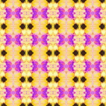 seamless geometric pattern with burly wood, khaki and medium orchid colors. repeating background illustration can be used for fashion textile design, web page background or surface textures.