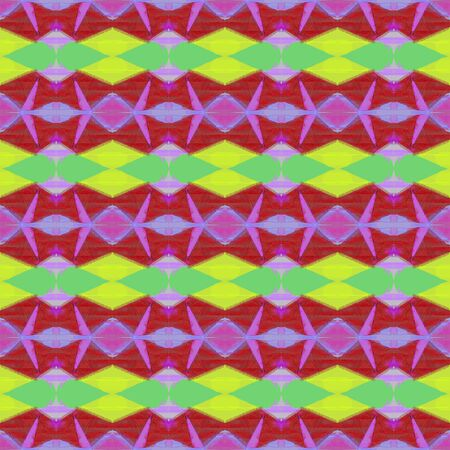 seamless geometric pattern with yellow green and medium orchid colors. repeating background illustration can be used for fashion textile design, web page background or surface textures. Stock fotó