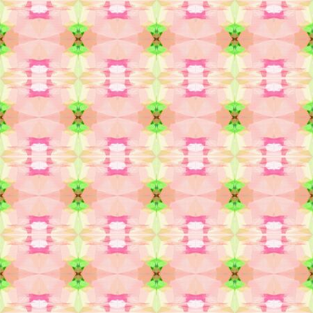 abstract seamless pattern with peach puff, moderate green and tan colors. repeating background illustration can be used for wallpaper, cards or textile fashion design.