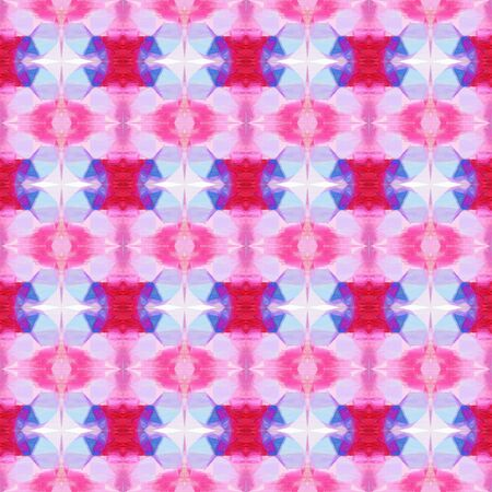 abstract seamless pattern with thistle, medium violet red and hot pink colors. repeating background illustration can be used for wallpaper, creative backgrounds or textile fashion design. Фото со стока - 129911229
