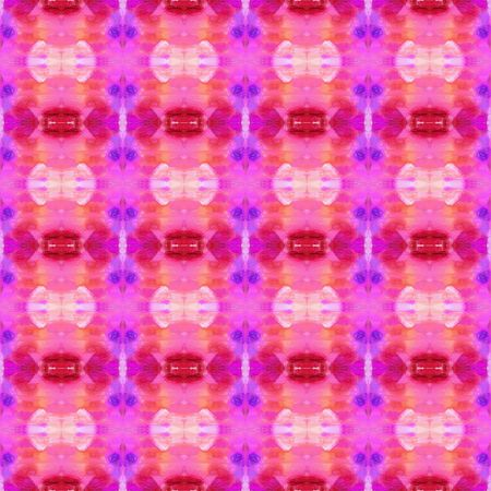 seamless retro pattern with neon fuchsia, hot pink and firebrick colors. repeating background illustration can be used for wallpaper, creative or textile fashion design. Фото со стока - 129911258