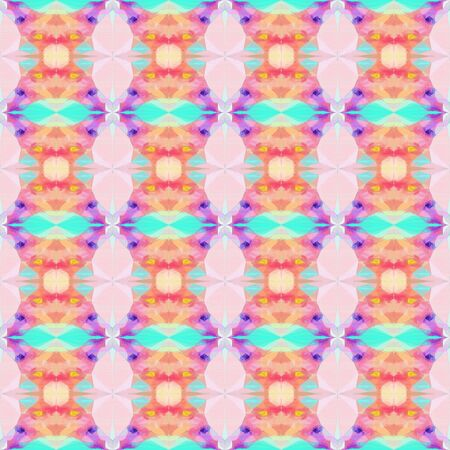 seamless pattern old retro style with baby pink, mulberry  and turquoise colors. repeating background illustration can be used for wallpaper, wrapping paper or textile fashion design.