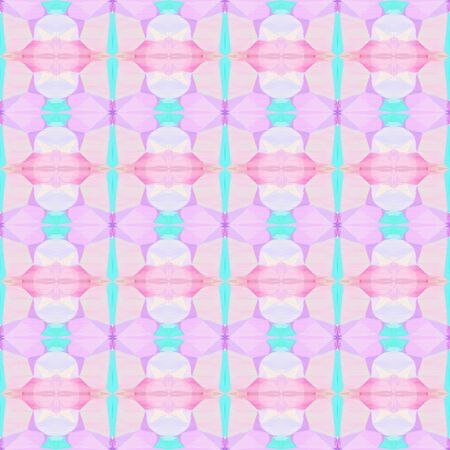 seamless geometric pattern with pastel pink and aqua marine colors. repeating background illustration can be used for wallpaper, creative backgrounds or textile fashion design.