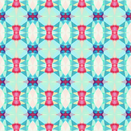 seamless geometric pattern with light gray, medium turquoise and powder blue colors. repeating background illustration can be used for wallpaper, creative backgrounds or textile fashion design.