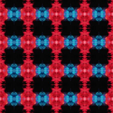 colorful seamless pattern with crimson, steel blue and black colors. repeating background illustration can be used for wallpaper, creative or textile fashion design.