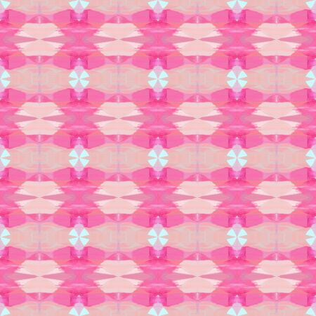 seamless geometric pattern with pastel magenta, hot pink and misty rose colors. repeating background illustration can be used for wallpaper, wrapping paper or textile fashion design. Stock Photo