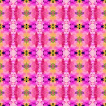 seamless pattern old retro style with hot pink, dark slate gray and baby pink colors. repeating background illustration can be used for wallpaper, wrapping paper or textile fashion design. Stock Photo