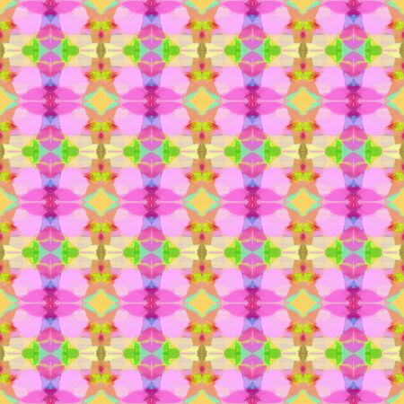 seamless pattern old retro style with baby pink, plum and yellow green colors. repeating background illustration can be used for wallpaper, wrapping paper or textile fashion design.