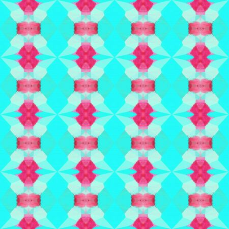 colorful seamless pattern with bright turquoise and moderate pink colors. repeating background illustration can be used for wallpaper, creative backgrounds or textile fashion design.