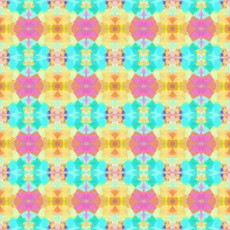 colorful seamless pattern with burly wood, turquoise and pastel orange colors. repeating background illustration can be used for wallpaper, wrapping paper or textile fashion design.