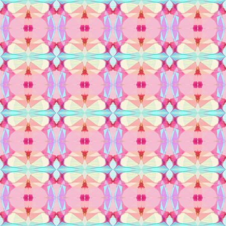 seamless vintage pattern with thistle, baby pink and moderate pink colors. repeating background illustration can be used for wallpaper, creative or textile fashion design. Stock Photo