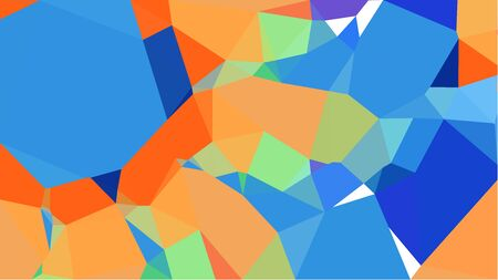 geometric multicolor triangles with sandy brown, dodger blue and strong blue color. abstract background graphic. can be used for wallpaper, poster, cards or graphic elements.