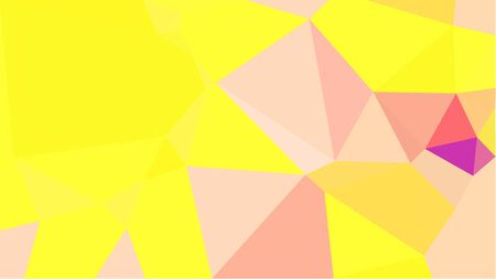 abstract geometric background with peach puff, yellow and light salmon color triangles. can be used for wallpaper, poster, cards or graphic elements.