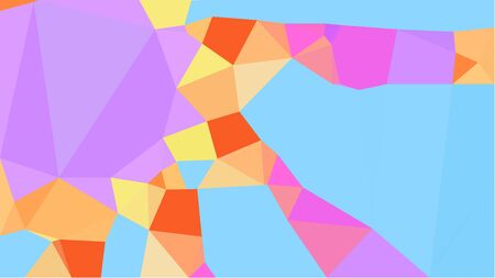 colorful triangles background with sandy brown, plum and light sky blue colors. can be used for wallpaper, poster, cards or graphic elements. Reklamní fotografie - 130148951