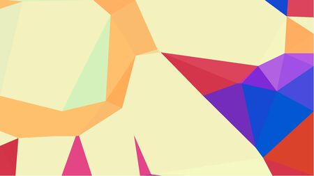 triangles background with moccasin, royal blue and moderate red colors. can be used for wallpaper, poster, cards or graphic elements. Reklamní fotografie