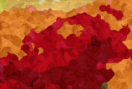 abstract natural painting style with firebrick, sandy brown and maroon colors.