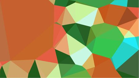 abstract geometric background with sea green, forest green and coffee color triangles. can be used for wallpaper, poster, cards or graphic elements.
