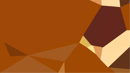 triangles background with saddle brown, skin and chocolate colors. can be used for wallpaper, poster, cards or graphic elements. Reklamní fotografie