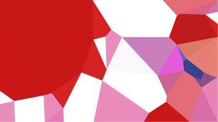 multicolor triangles with firebrick, strong red and orchid color. abstract geometric background graphic. can be used for wallpaper, poster, cards or graphic elements. Reklamní fotografie - 130149339