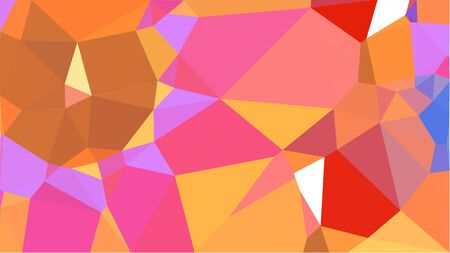 multicolor triangles with pastel red, coral and orchid color. abstract geometric background graphic. can be used for wallpaper, poster, cards or graphic elements. Reklamní fotografie - 130149341
