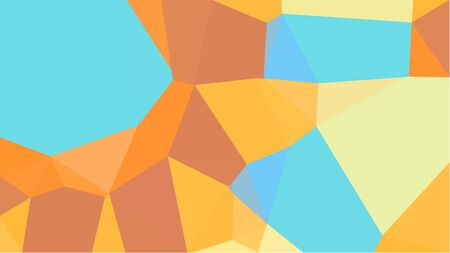 colorful triangles background with sky blue, sandy brown and pastel orange colors. can be used for wallpaper, poster, cards or graphic elements.