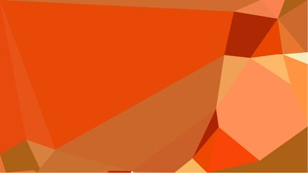 multicolor geometric triangles with coffee, coral and saddle brown color. abstract background graphic. can be used for wallpaper, poster, cards or graphic elements.