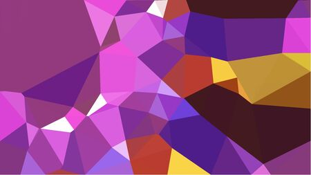 multicolor triangles with antique fuchsia, saddle brown and orchid color. abstract geometric background graphic. can be used for wallpaper, poster, cards or graphic elements.