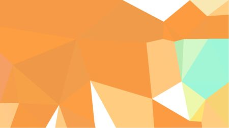 triangles background with pastel orange, tea green and khaki colors. can be used for wallpaper, poster, cards or graphic elements.