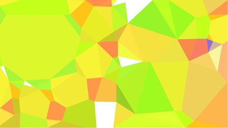 multicolor triangles with green yellow, pastel orange and coral color. abstract geometric background graphic. can be used for wallpaper, poster, cards or graphic elements.