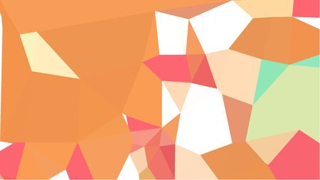 abstract geometric background with coral, sandy brown and pale golden rod color triangles. can be used for wallpaper, poster, cards or graphic elements.
