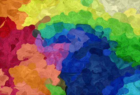 abstract creative painting style with sandy brown, moderate green and midnight blue colors.