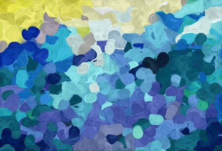 abstract colorful grunge painting style with teal blue, pale golden rod and steel blue colors.