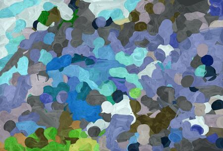 abstract creative painting style with slate gray, pastel gray and sky blue colors.