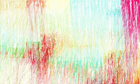 grunge drawing strokes background with copy space for text or image with beige, crimson and medium aqua marine colors. can be used as wallpaper, background or graphic element. 스톡 콘텐츠