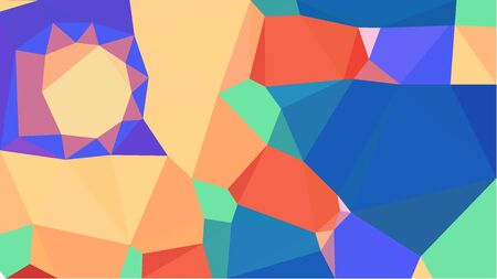 multicolor geometric triangles with burly wood, royal blue and pastel red color. abstract background graphic. can be used for wallpaper, poster, cards or graphic elements.