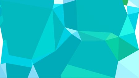 geometric multicolor triangles with dark turquoise, pale turquoise and bright turquoise color. abstract background graphic. can be used for wallpaper, poster, cards or graphic elements.