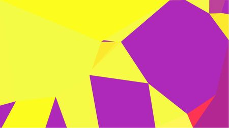 geometric multicolor triangles with yellow, dark orchid and medium violet red color. abstract background graphic. can be used for wallpaper, poster, cards or graphic elements.