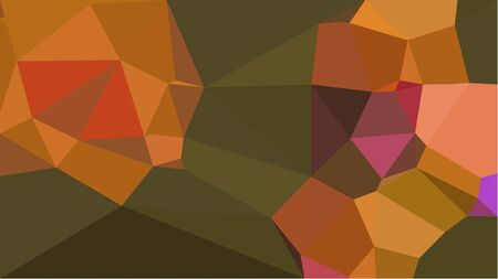 multicolor triangles with dark olive green, sienna and bronze color. abstract geometric background graphic. can be used for wallpaper, poster, cards or graphic elements. Reklamní fotografie