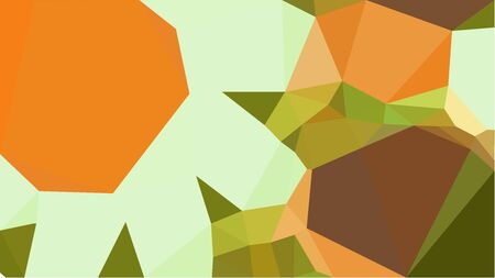 colorful triangles background with golden rod, brown and tea green colors. can be used for wallpaper, poster, cards or graphic elements.