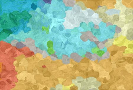 abstract creative painting style with dark khaki, light sea green and sky blue colors.